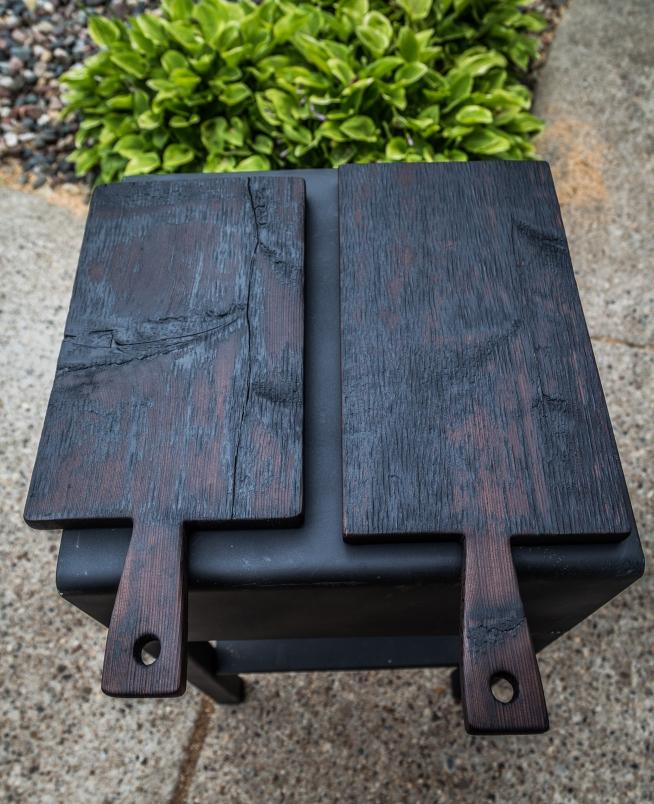 Shou Sugi Ban Charred Cedar Serving Boards