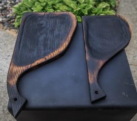 Charred Oak Serving Boards