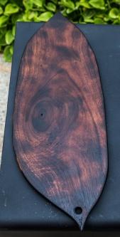 Charred Black Walnut Leaf Shaped Cutting Boards