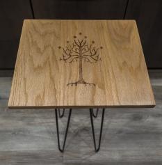 Tree of Gondor Woodburn Red Oak End Table
