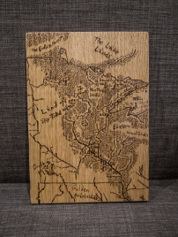 Tolkien Minnesota Map Woodburn Wall Decor