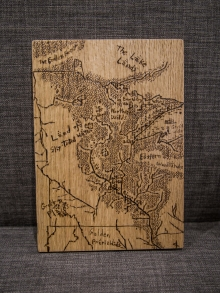 Tolkien Minnesota Map Woodburn Wall Decor