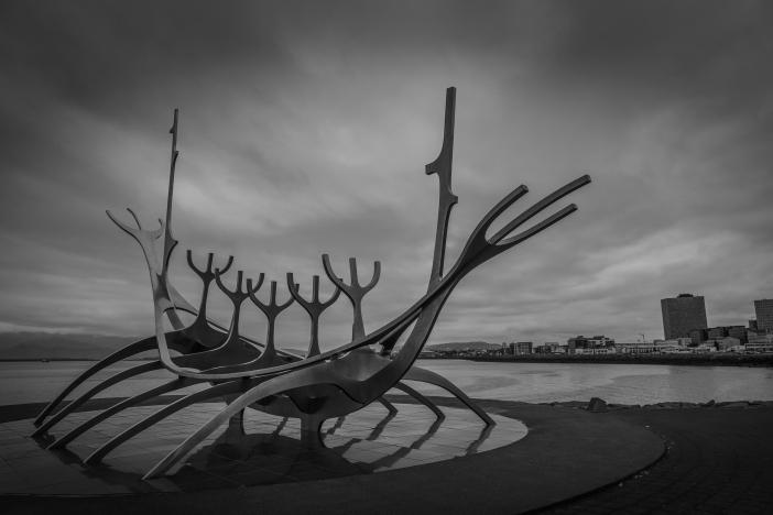 Sólfar Sculpture in Reykjavík - Iceland
