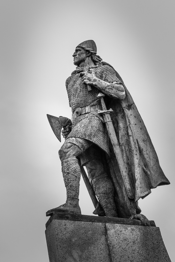Leif Erikson Statue at Hallgrímskirkja - Iceland