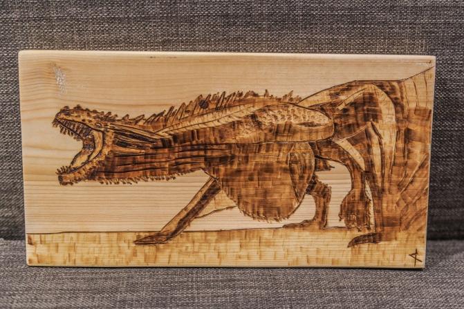 Game of Thrones Drogon Wood-Burn
