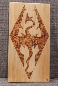 Skyrim Symbol Wood-Burn
