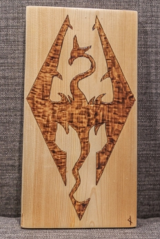 Skyrim Symbol Wood-Burn