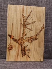 Game of Thrones Dragon Wood-Burn