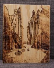 Lord of the Rings Argonath Wood-Burn