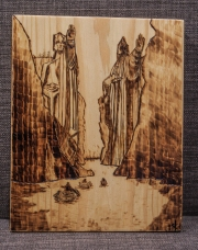 Lord of the Rings Argonath Wood-Burn