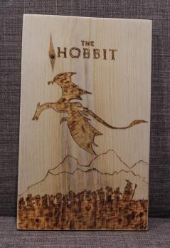 The Hobbit Stylized Movie Poster Wood-Burn