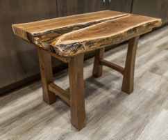 Lake Superior Rock and Agate Resin Table - Black Walnut