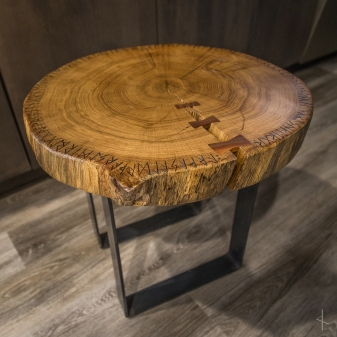 Fine Red Oak Slab Table With Black Walnut Butterfly Inlay And Download Free Architecture Designs Crovemadebymaigaardcom