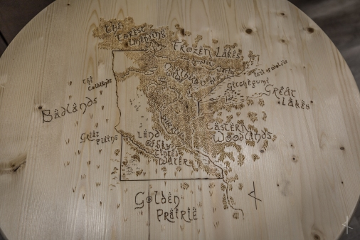 Tolkien Minnesota Fantasy Map Wood Burn Table