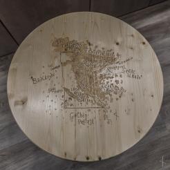 Tolkien Minnesota Fantasy Map Wood Burn Table