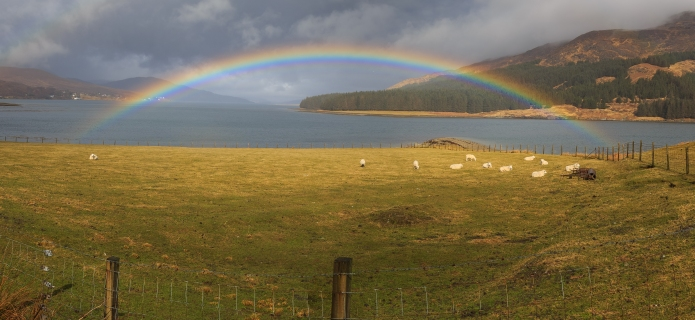 Rainbow on the Loch - Scotland