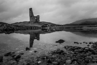 Mirrored Tower - Ardvreck Castle, Scotland