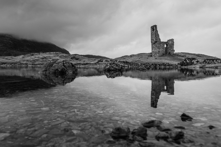 Mirrored Tower - Ardvreck Castle, Scotland