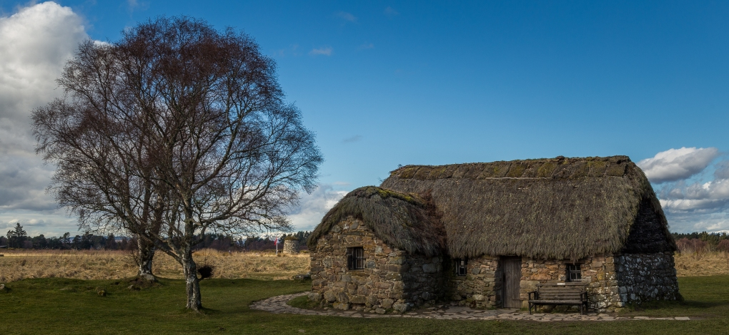 Thatch-roofed Farmhouse - Culloden Battlefield, Inverness, Scotland