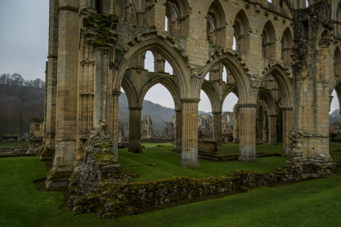 Abbey Ruins - Rievaulx Abbey, North York Moors National Park, England