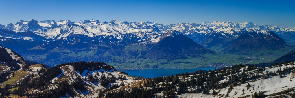 View from Mount Rigi, Switzerland