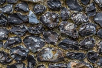 Flint Wall at Canterbury Cathedral - Canterbury, England