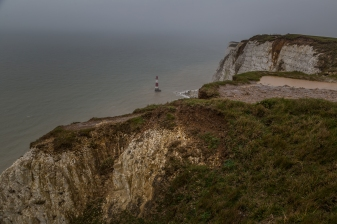The Seven Sisters White Chalk Cliffs - South Downs, East Sussex, England