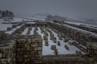 Roman Fort Ruins - Housesteads Roman Fort, Hadrian's Wall, England