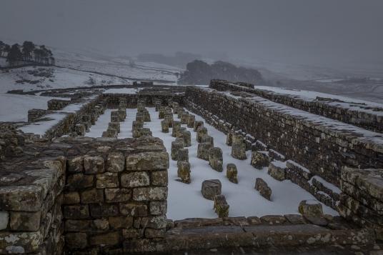 Roman Fort Ruins - Housesteads Roman Fort, Hadrian's Wall, England