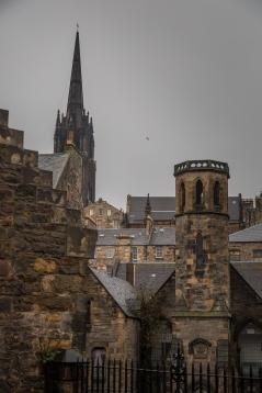 Rooftops - Cemetery View - Edinburgh Castle - Edinburgh, Scotland