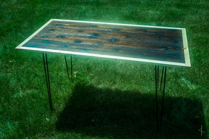 Shou Sugi Ban Charred Cedar Table