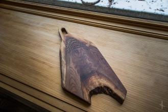 Black Walnut Cutting Board with Runic Inscription