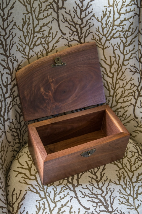 Runic Black Walnut Chest with Old Norse Art