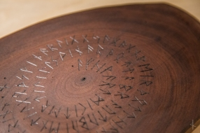 Runic Black Walnut Serving Board