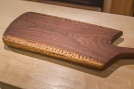 Runic Black Walnut Serving Board