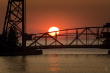 Duluth Lift Bridge Sunrise