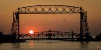 Duluth Lift Bridge Sunrise