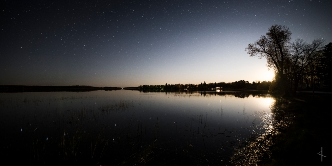 Moon Rise on the Milky Way over Dora Lake, MN
