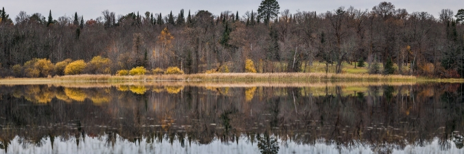 End of Fall Colors Reflecting -Dora Lake, MN